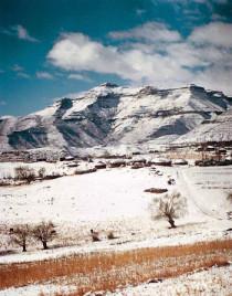 Lesotho, Schnee auf Machache