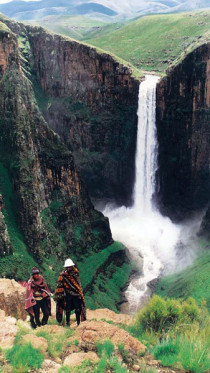 Lesotho, Malensunyane Fällen,