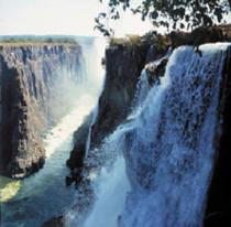 Viktoriafälle auf der Sambia Seite